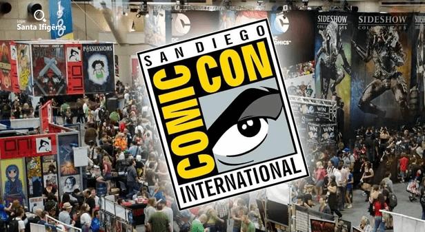Pessoas no pavilhão da San Diego comic-Con