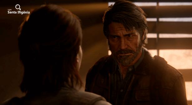 Joel conversando com Ellie em cena de The Last of Us 2