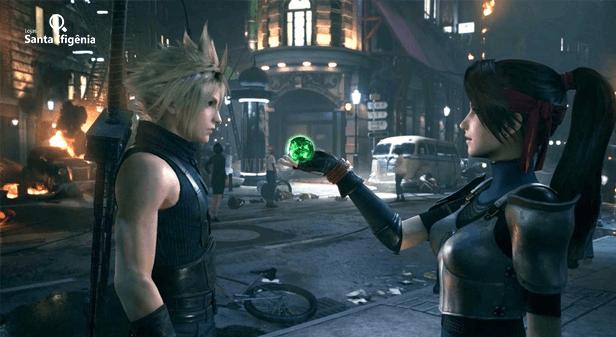 Cloud em Final Fantasy VII Remake