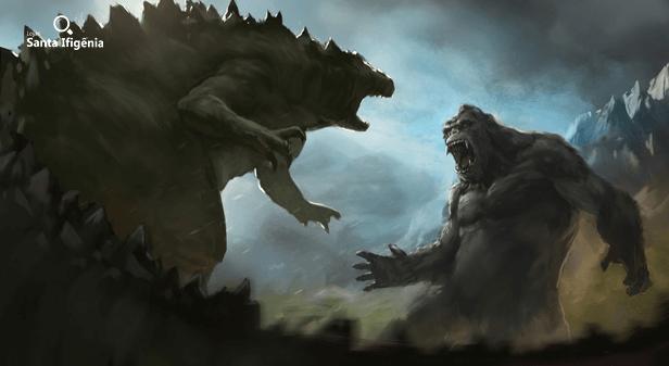 Godzilla vs Kong arte conceitual